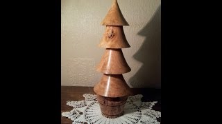 Wood Turning - A Christmas Tree