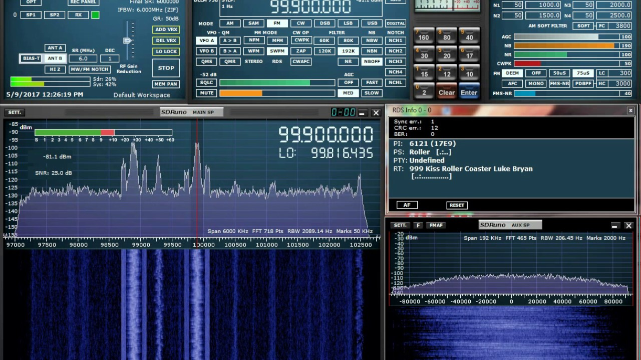 SDRuno using RSP2pro for FM Broadcast