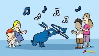 Oso hormiguero trombón - Canciones infantiles del Zoo de Musicaeduca