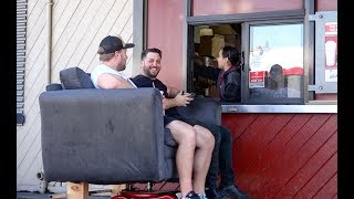 DRIVE THRU ON A MOTORIZED COUCH! feat. Furious Pete