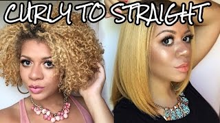 curly to straight how i straighten my natural curly hair tutorial