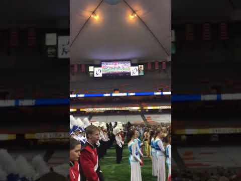 Jamestown High School Marching Band wins the large school class championship in Syracuse