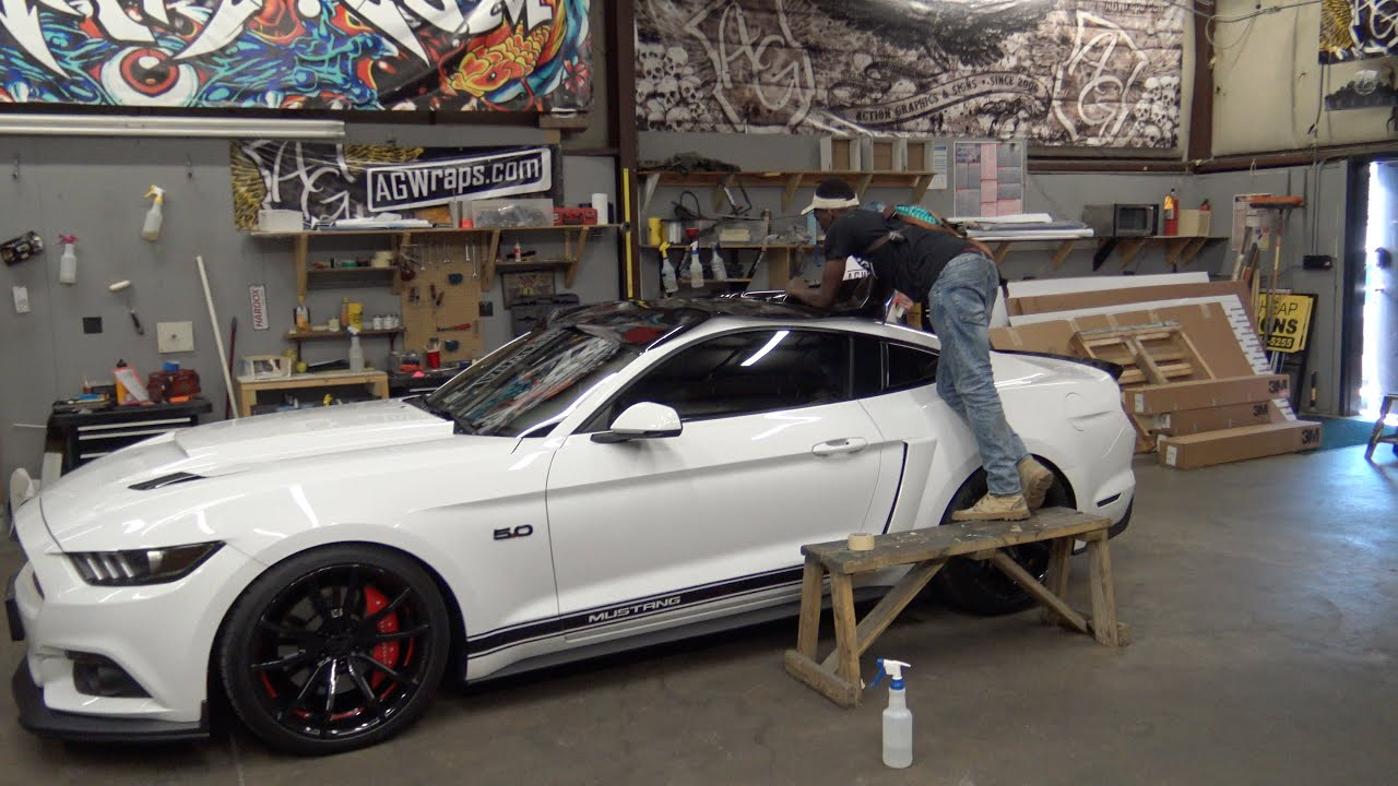 Marvelous Black Vinyl Roof Wrap   YouTube