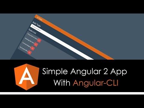 Simple Angular 2 App With Angular CLI