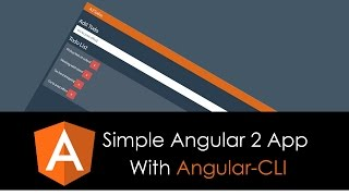 simple angular 2 app with angular cli