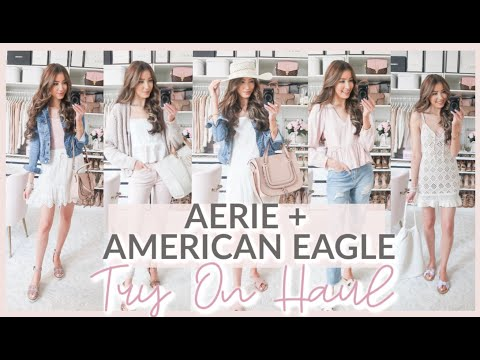American Eagle + Aerie SPRING TRY ON HAUL 2020 | HUGE SALE!! 💗