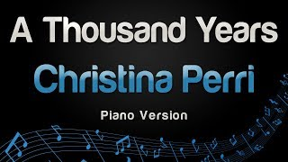 Gambar cover Christina Perri - A Thousand Years (Piano Version)