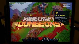 Minecraft Dungeons on Surface Go 2 and Surface Pro 7 - fps and touch controls demo