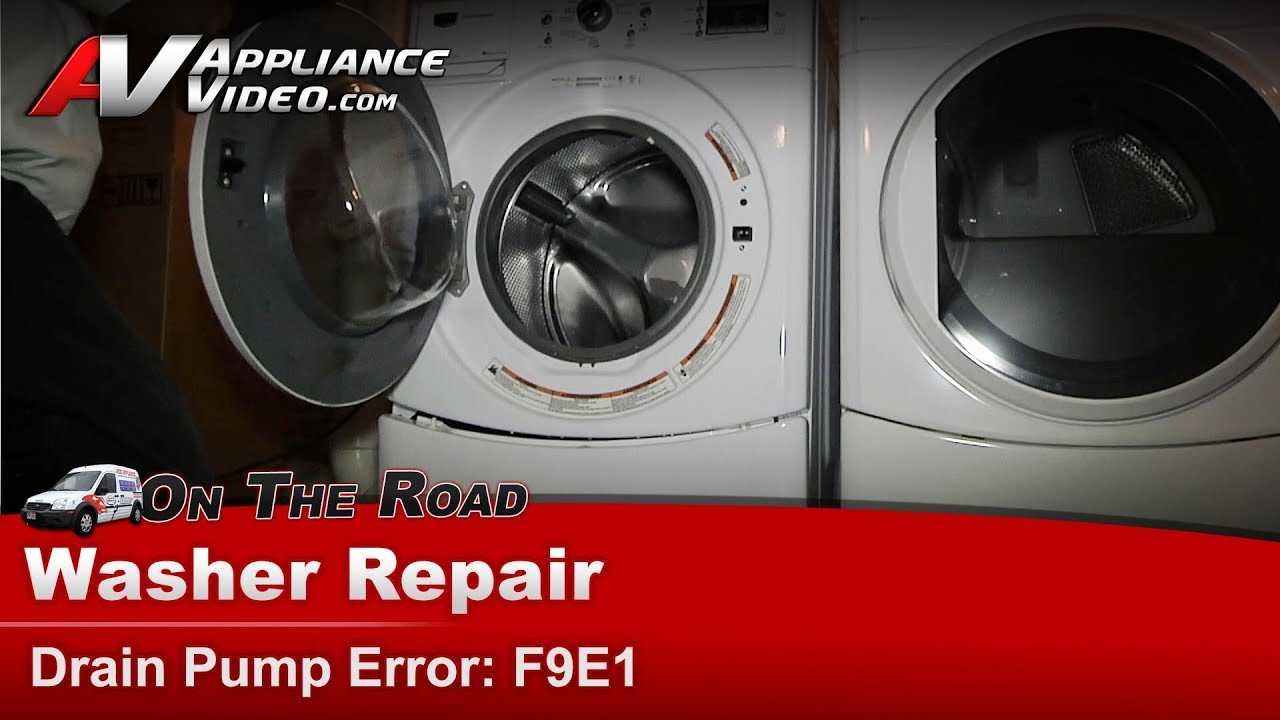 Maytag Whirlpool Washer Repair Drain Pump Error No