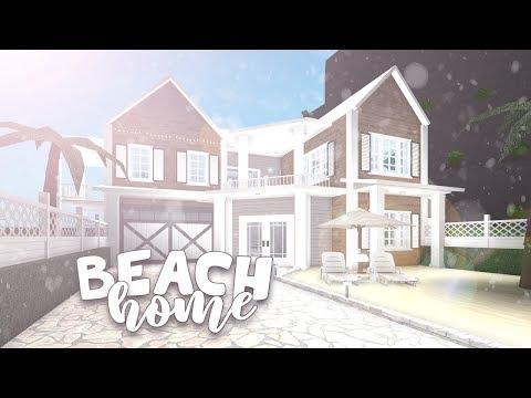 Roblox Bloxburg Beach Home House Build Youtube