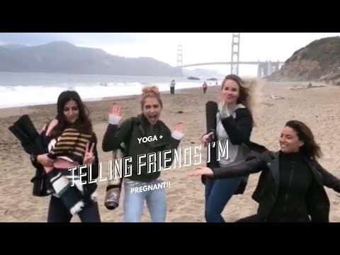 Telling My Friends I'm PREGNANT!!! (+beach yoga)