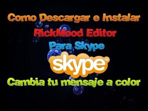 Como Descargar E Instalar RichMood Editor Para Skype |2013| Cambia Tu Mensaje Personas En Color