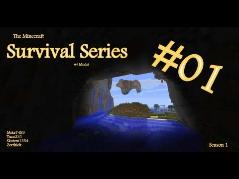 The Minecraft Survival Series (w/ Mods and Friends!)~ Season 01, Episode 01- Will They Survive?