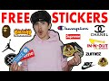 HOW TO GET FREE STICKERS FROM ANY COMPANY!!