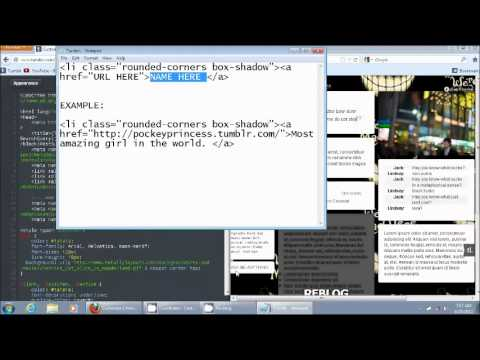 how to put tabs on your tumblr side bar using an html code youtube