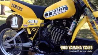 1980 Yamaha YZ465 Under 10 starts on rebuild | Vintage MX dirt bike