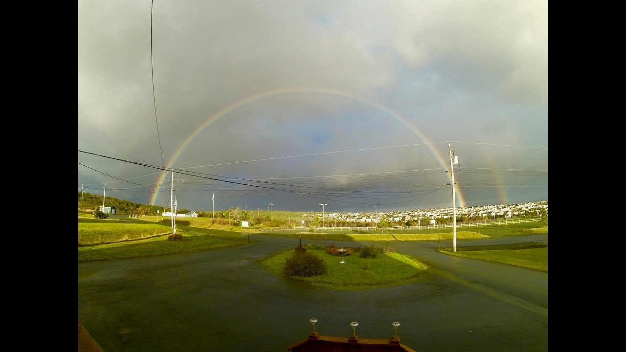 Beautiful Rainbow Looking Out My Front Door Youtube