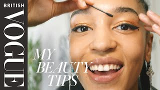 Model Indira Scott's 4-minute Everyday Glitter Look | British Vogue