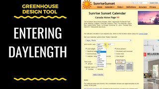 Entering Daylength Into The Greenhouse Design Tool