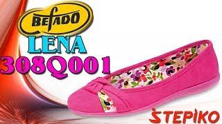 Женские текстильные балетки Befado Lena 308Q001. Видео обзор от WWW.STEPIKO.COM