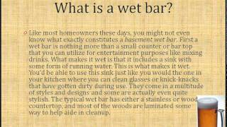 Basement Wet Bars - What You Need To Know