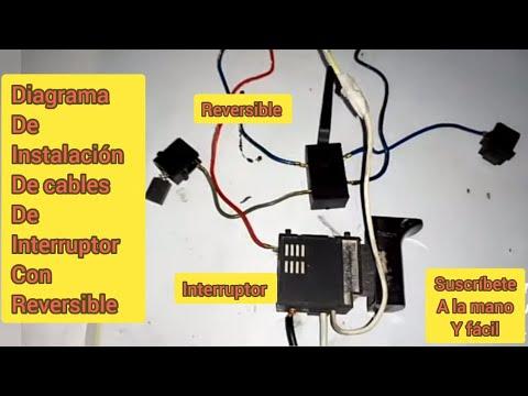 Instalación de cableado al interruptor con cajita de cambios de taladro..