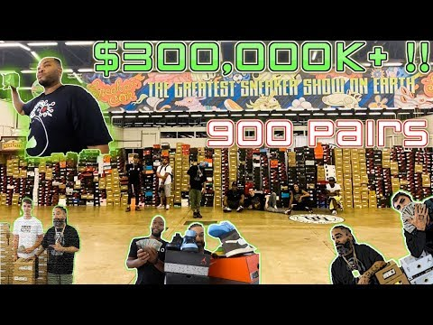 The most money ever spent at Sneakercon! (Buying over 900 pairs and spending more than $300,000!!!!)