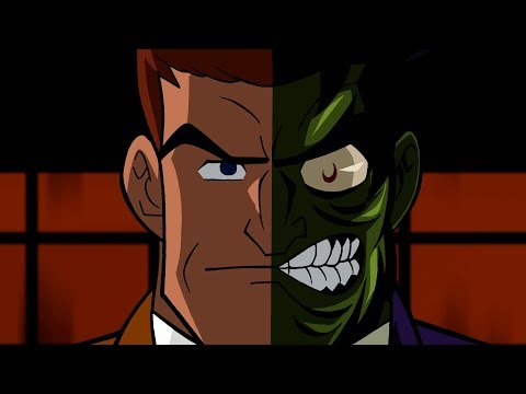 Two-Face in Cartoons 1992 to 2018 Evolution video clip (2017)