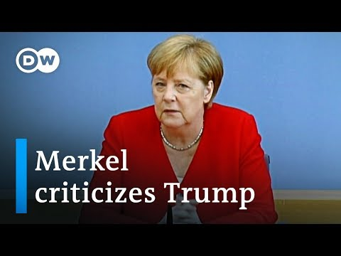 Merkel sides with US congresswomen and rejects Trump remarks | DW News