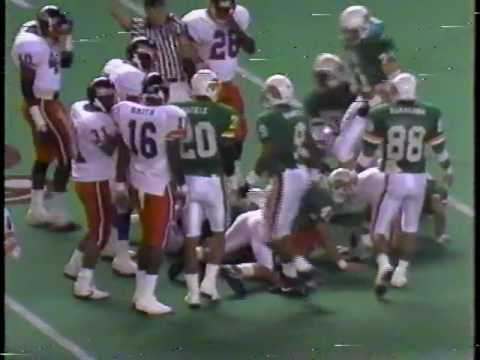 Cal State Fullerton Football Vs University of Hawaii 1990