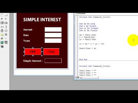 simple interest rate program in vb 6.0 (No. 1 Video for beginners in Hindi/ Urdu)