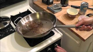 Cook Simple - Pan Seared Steak With Mashed Potatoes, Asparagus  + Garlic/shallot Topping