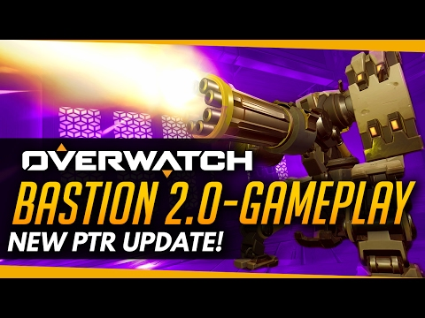 Overwatch | BASTION 2.0 GAMEPLAY - NEW PTR PATCH