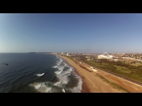 Scenic Helicopter Flight Durban South Africa Time Lapse - Africa Travel Channel