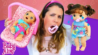 baby alive sweet tears doll goes crazy and bites doctor sandra in her newborn check up disneycartoys
