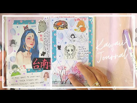 🌸 KAWAII JOURNAL WITH ME! (Real Time Journal With Me) | How I Journal