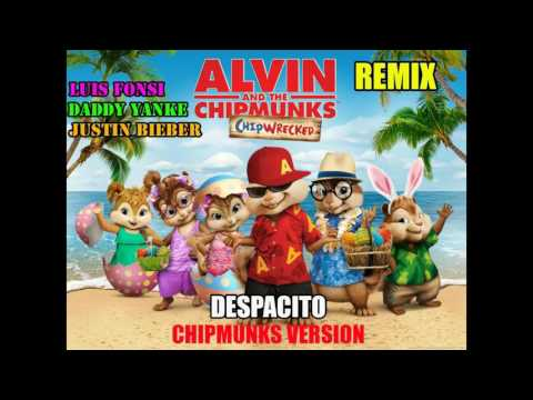 Luis Fonsi, Daddy Yankee -JUSTIN BIEBER. Despacito ft.Chipmunks