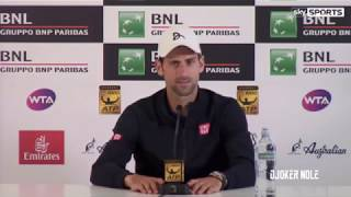 Novak Djokovic about Cooperation with Andre Agassi - Rome 2017 (HD)
