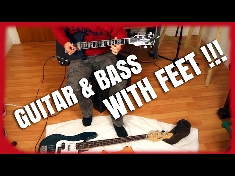 ☺ Guitar and Bass with feet II (Improvisation)