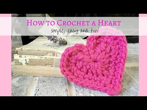 Crochet Tutorials On Youtube : Crochet Heart Tutorial - YouTube