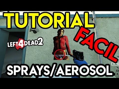 TUTORIAL | Como Hacer Spray/Aerosol en Left 4 Dead 2 | Morado |