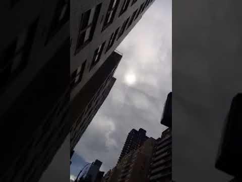 September 13 2017 manhattan New York sun and clouds 2:14 Pm