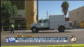 Family suing city of San Diego over death of toddler struck by city water department truck