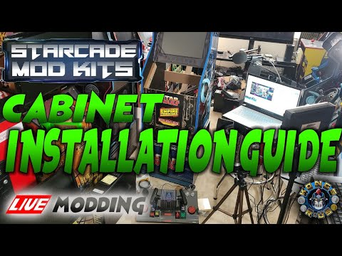 Star Wars Arcade1Up - StarCade Mod Kit Cabinet Installation Guide (Live Modding Session) from Kongs-R-Us