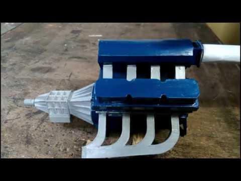 V8 paper engine revving