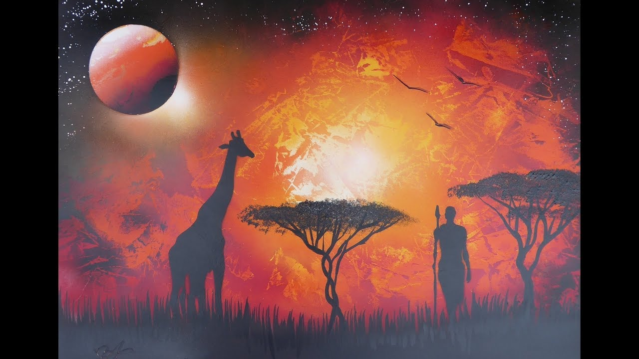 Spray paint art - Africa - made by street artist *time lapse*