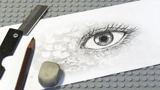ASMR 일러스트 연필 깎아서 눈그리기 - Draw An Eye (pencil writing & sketching sounds)