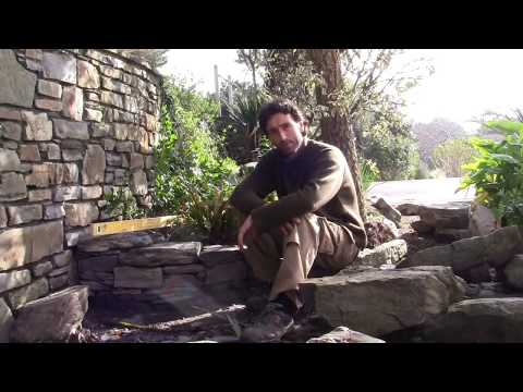 How to make or build a Natural Traditional Irish Dry Stone Wall