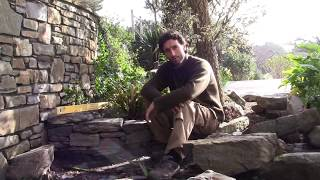 How To Make Or Build A Natural Traditional Irish Dry Stone Wall / Making Raised Vegetable Beds