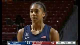 #4 UConn vs Temple Women's Basketball 2019 (Nov 17) NCAA Women's Basketball